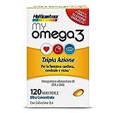 Multicentrum My Omega 3 Tripla Azione Integratore Alimentare 120 Mini Perle...