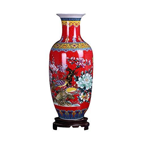 ufengke Jingdezhen Grand Vaso da Pavimento,Vaso Ceramica,Fatto a Mano,Vaso Decorativo per Casa,18.11