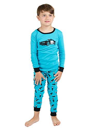 Leveret Kids & Toddler Pajamas Police Car Boys 2 Piece Pjs Set 100% Cotton (Size 8 Years)