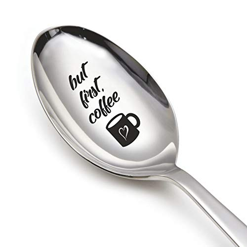 Spoon Gift (But first coffee - Engraved spoon - Gift for Him - Gift...