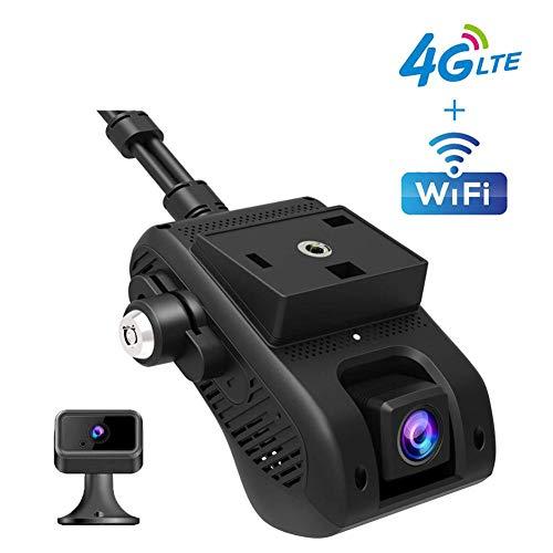 1080P FHD GPS 4G Dashcam mit Dual Lens, WDR, 170° Weitwinkelobjektiv, Super Nachtsicht, Loop-Aufnahme, G-Sensor, Parkmonitor, Bewegungserkennung,Flotte Verwalten,Cardvr
