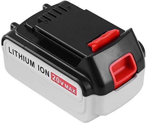 VANTTECH Batería de repuesto LBXR20 para Black & Decker 18 V/20 V Max batería 5,0 Ah Li-Ion de repuesto para Black & Decker LB20 LBX20 LST220 LBXR2020-OPE LBXR20B-2 LB2X4020
