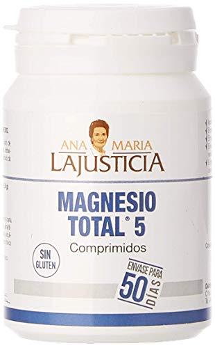Ana Maria Lajusticia - Magnesio total 5 – 100 comp. Disminuye el cansancio y la fatiga, mejora el funcionamiento del sistema nervioso. Apto para veganos. Envase para 50 días de tratamiento.
