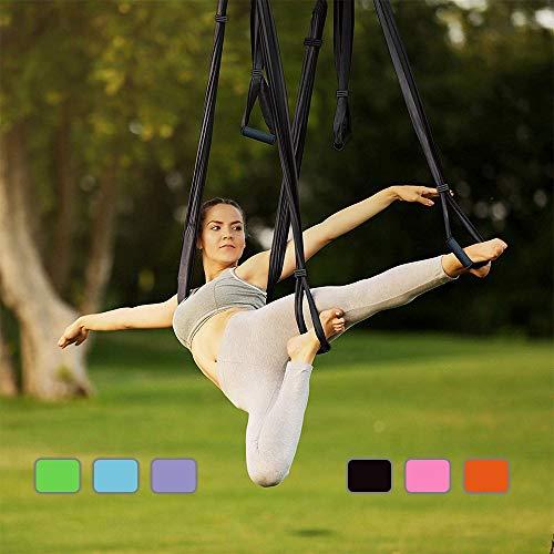 Yontree Yoga H/ängematte Set Anti-Gravity-Schwingen Aerial Yoga Fitness Tuch 500 280cm