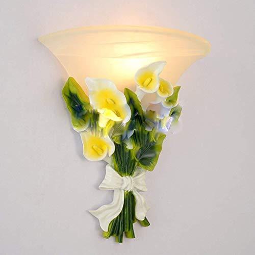 BXU-BG Wall nórdico minimalista moderno romántico jardín Flores del estilo de cristal de un sólo recinto de la lámpara principal, caliente la lámpara de cabecera del dormitorio pasillo living