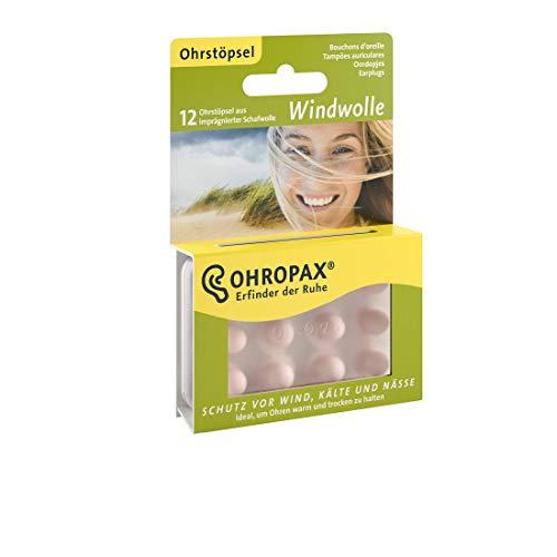 Ohropax Windwolle - Gehörschutz, halten Ohren warm und trocken, Schutz vor Wind, Kälte und Nässe, 1er Pack(1 x 30 g)