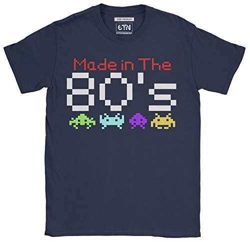 Men's Made in the 80s Invaders Gamer T-shirt, 3 Colours, S to XXL
