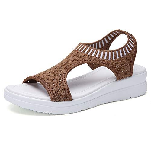Sandalias De Gran Tamaño Para Mujer, Estilo Hada Femenino, Sandalias Romanas De Fondo Grueso, Zapatos Casuales De Boca De Pez Salvaje, Muffin, Zapatos De Playa De Fondo Grueso