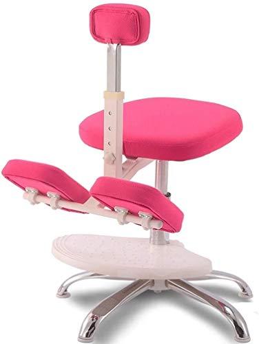HUXIUPING Hinknien Stuhl Ergonomie Bürostuhl Study Chair Fitness Chair Study Chair Entlasten Müdigkeit Gute Haltung (Color : Pink, Size : with Pedals)