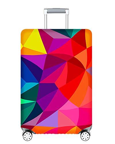 Proteggi Valigia Suitcase Luggage Cover,18-32 pollici Coperchio per , Lavabile Viaggio Bagagli Coprire Copri Valigia Copertura per Valigia (Geometria colorata, XL)