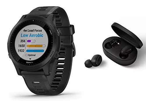 Garmin Forerunner 945 - GPS Multisportuhr/Smartwatch mit Karten und Musik - schwarz inkl. Bluetooth Headset
