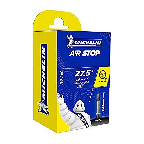 Michelin Airstop Butyl - Camara de bicicleta 27.5 ' x 1.9  2.5, 60 mm, B4, 48/62 x 58.4