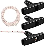 Zhichengbosi Recoil Starter Rope, 10-Meter 3 mm Lawn Mower Pull Cords, Engine Starter Pull Cords With 3 PCS Black Recoil Starter Handle for Chainsaws, Lawn Mower (10 m)