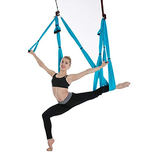 Aerial Yoga Hammock Set Trapeze Yoga Inversion Tool Ceiling Hooks Extension Straps Carabiners Carry Bag
