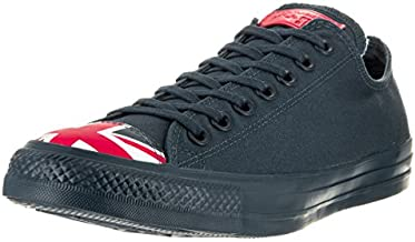 Converse Unisex Chuck Taylor All Star Ox Low Top Classic Navy/Red/White Sneakers - 9.5 B(M) US Women / 7.5 D(M) US Men