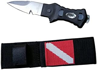 Scubamax Pointed Tip Stainless Steel Dive Knife with Nylon Sheath