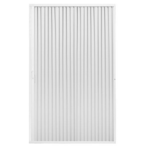 "RecPro RV Shower Doors | RV Pleated Folding Shower Doors (White) 48""x 57"" 4857 Pleated Folding Shower Doors"