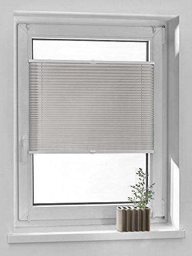 Vidella Plissee comfortino blickdicht Fenstermontage 75 cm, grau, PC-6