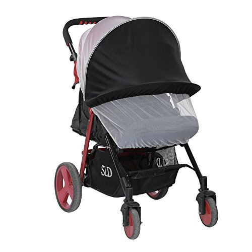 FORYOURS Baby Stroller Sun Shade Insect Mosquito Net Cover UV Protection Wind-Proof for Pushchair Baby Pram Buggy Strollers