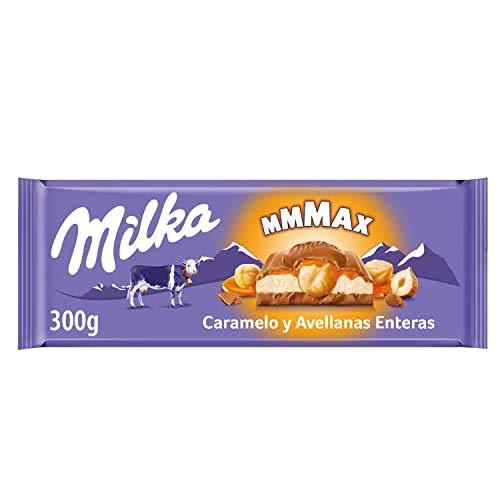 Milka ChocoSwing Chocolate con caramelo y avellanas, 300 g