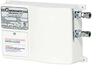 Chronomite M-20L/208 HTR 110F 208-Volt 20-Amp Instant-Flow Micro Low Flow Tankless Water Heater, 110-Degree Preset by Chronomite