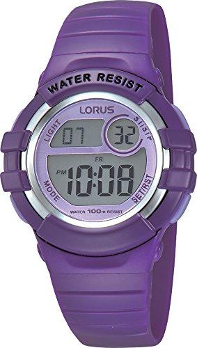 Lorus Kids Mädchen-Uhr Chronograph Edelstahl und Kunststoff mit Urethanband R2385HX9
