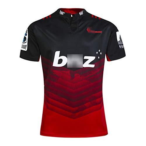 2017-2020 Crusaders Training Rugby-Trikot T-Shirt Limited Gedenkausgabe Rugby Uniform Herren Damen Jugend Jugend Kurzarm Rugby Wear-Black-S