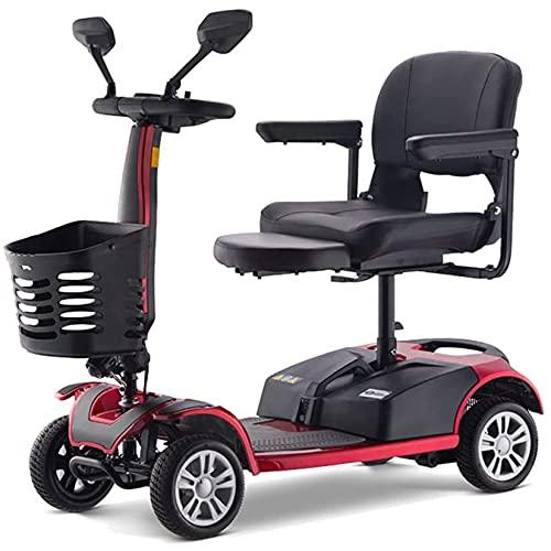 YX-ZD Scooters De Movilidad De 4 Ruedas, Silla De Ruedas para Ancianos, Scooter Eléctrico Plegable para Discapacitados con Batería De Litio, Triciclo Automático con Motor De 250 W hasta 8 Km/H,20Ah