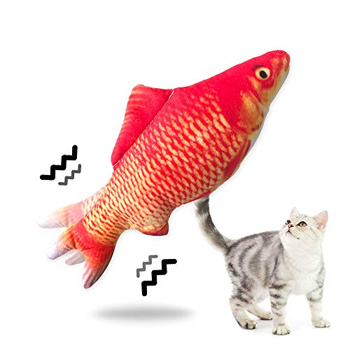 Amakunft Electric Fish Cat Toy, Indoor Interactive Dancing Fish for Kitty,...