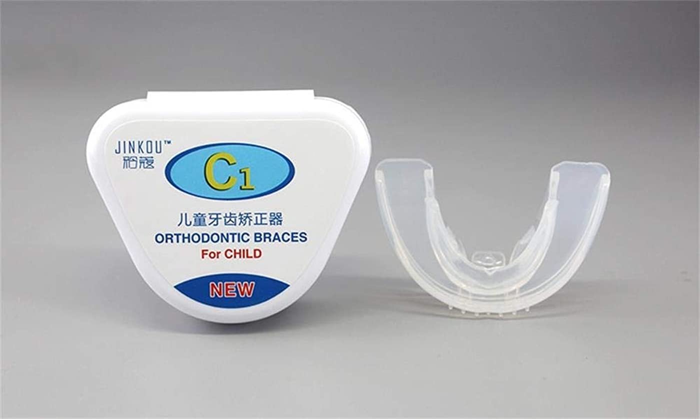 体細胞キャプテンミシン子供のための歯列矯正の見えないブレース、歯の形削り、薄型カスタムフィットプロフェッショナルナイトマウスガードマウスピース睡眠停止歯研削、2つのサッチ (Color : Clear, Stage : Firsr stage)