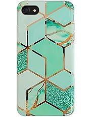 Oihxse Compatible para iPhone XR Funda de Mármol Cristal Patrón Suave Silicona TPU Flexible Gel Protectora Carcasa Ultra Fina Anti Choque Protección Cubierta Caja (Verde marmol)