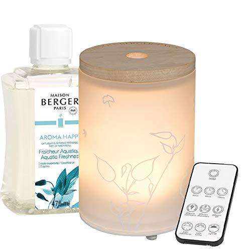 Lampe Berger Aroma Happy - Difusor eléctrico (Cristal, Satinado, 475 ml), Color...