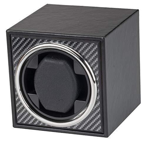 Noblik Expositor giratorio para relojes automáticos con USB, fuente de alimentación para reloj mecánico, caja de bobinado