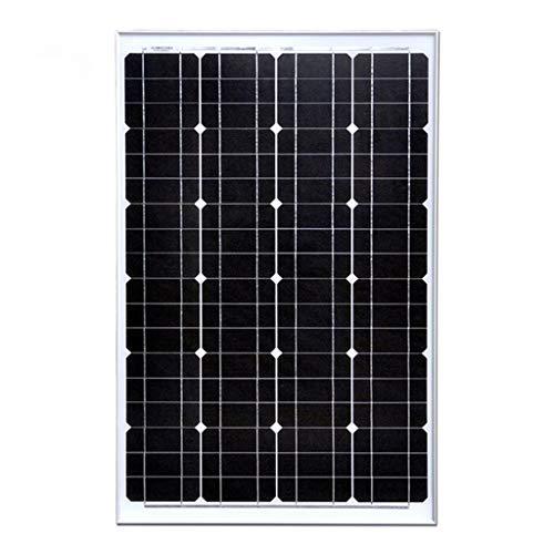 YILANJUN Módulo de Panel Solar Monocristalino, 60 W, Panel Fotovoltaico de 12V Iluminación Exterior Generación de Energía Doméstica, Módulo Fotovoltaico Solar Casero 12V Batería