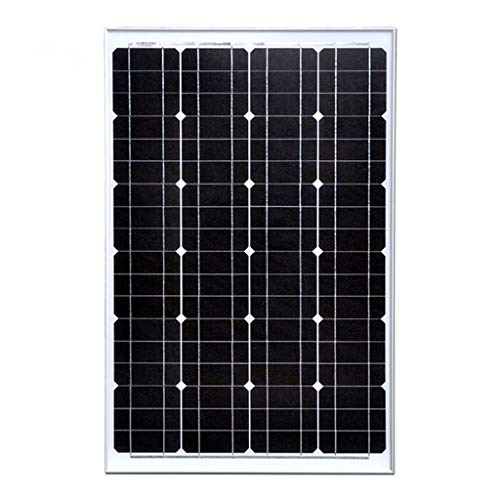 YILANJUN 60 Watt Monocrystalline Solar Panel, 12V Photovoltaic Panel Outdoor Lighting Household Power Generation, High Efficiency Module Power, Home Solar PV Module 12V Battery Direct