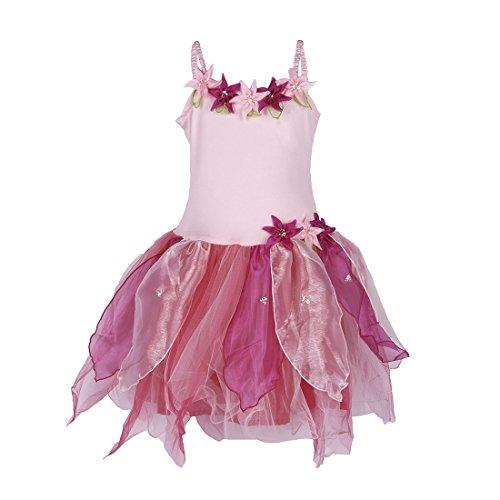 SHU-SHI Girls Tulip Princess Fairy Tutu Dress Up Costume Kids Party Outfit Pink