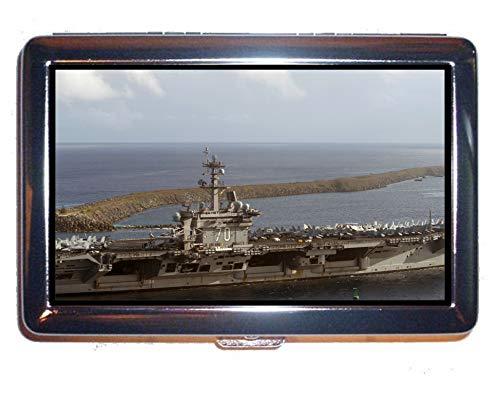 Yanteng Sigarette Box Custodia per 18 Pz, Portaerei Horizon USS Carl Vinson Warship Portafoglio Cassa Case Multi YT28