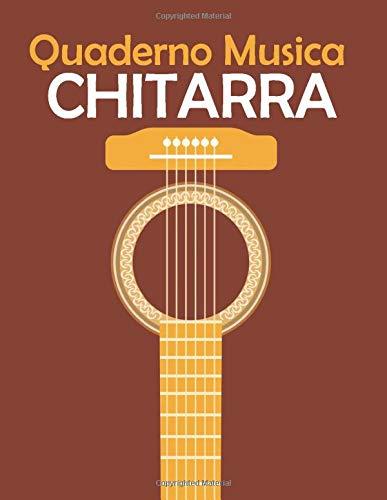 Quaderno Musica Chitarra: Chitarra 6 Corde, 7 Tablature e 5 Griglie per Accordi per Pagina, 110 Pagine A4