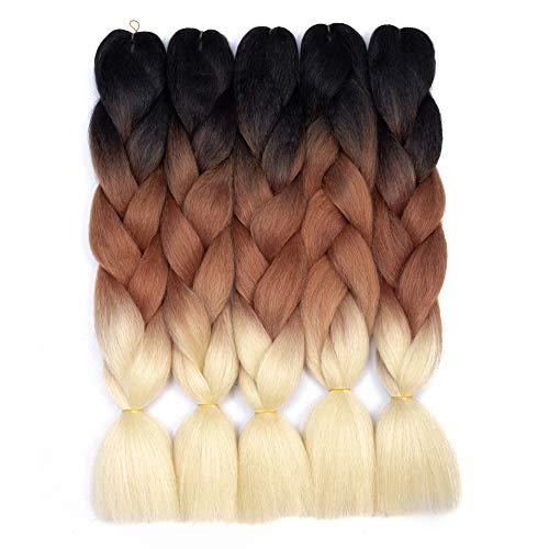 Ombre Braiding Hair Kanekalon Synthetic Braiding Hair Extensions...