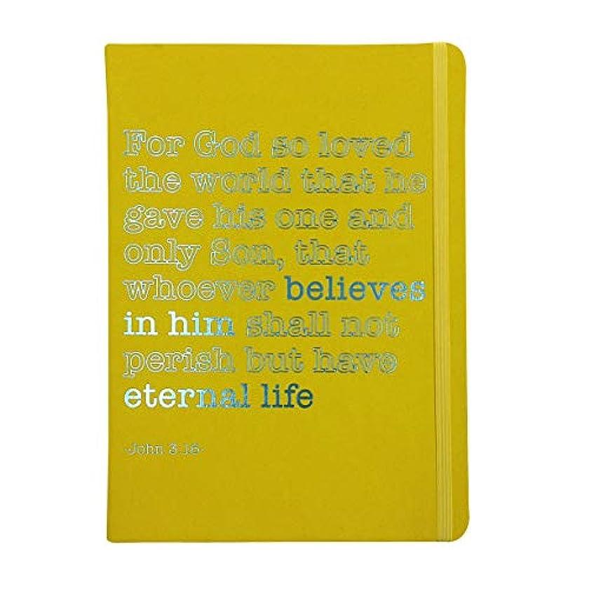 Robert Frederick - A5 Journal for Success - John 3:16 - Yellow Cover