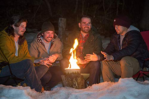 Radiate Portable Campfire: The Original Go-Anywhere Campfire   Eucalyptus Scent   Lightweight and Portable   3-5 Hours of Bright and Warm Burn Time   Convenient-No Embers-No Hassle   Made in USA
