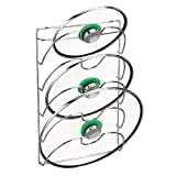mDesign Organizador Cocina – Accesorios de Cocina prácticos – Si Busca organizar armarios Cocina Este Soporte para Tapas de sartén es la solución – Metal Cromado