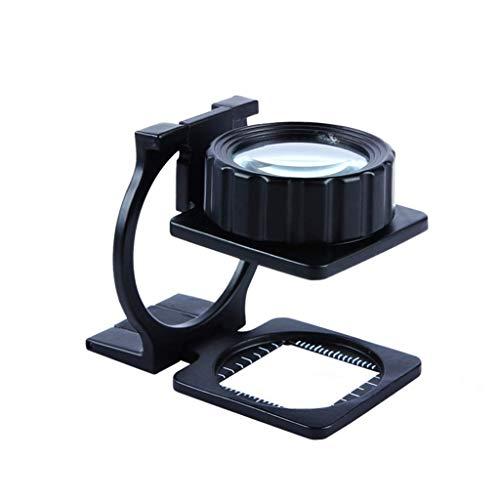 KANJJ-YU Herramientas Vidrio, de Alta definición, Vidrio, capítulo óptico 20 Veces Full Metal Plegable de Vidrio HD Vidrio óptico de Lectura Foto Espejo Lupas