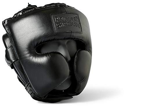 Paffen Sport Black Logo Kopfschutz für das Sparring – schwarz – GR: S/M