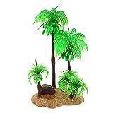 Nobranded Acuarios Plantas Decorativas, cocoteros Artificiales Verdes, Plantas para peceras, Ornamentos de paisajismo - 02
