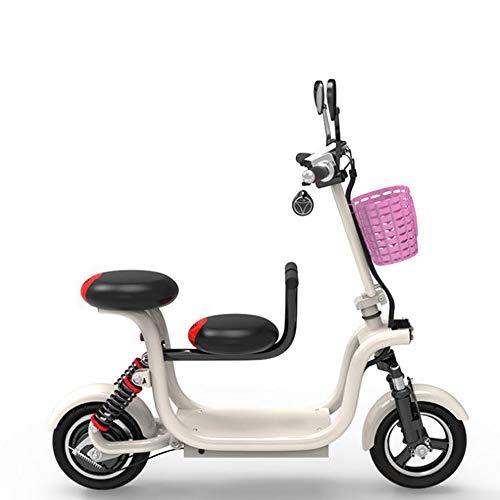 GDDYQ Scooter eléctrico, Bicicleta Recargable, Doble, Bicic