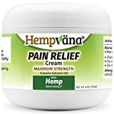 Hempvana Pain Relief Cream with Hemp Seed Extract - Relieves Inflammation, Muscle, Joint, Back, Knee, Nerves and Arthritis Pain – Made in USA 4oz Paraben Free, Vegan, Cruelty-Free As Seen On TV