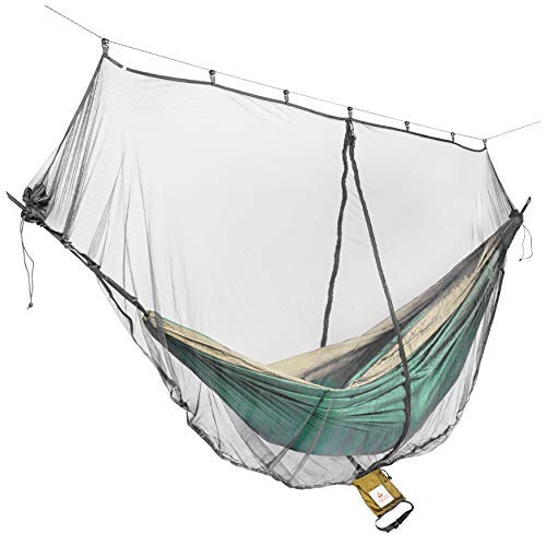 Cushy Camper Mosquito Net for Hammocks - Portable Backpacking Protection - Large Hammock Bug Net Keeps Out Mosquitoes and Keeps You Cool - Dual-Sided Zipper for Easy Entry - Ultralight Camping Shelter