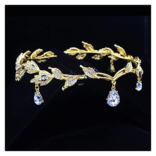 Corona de tiara para novia de boda, para mujer, cabeza de frente,...