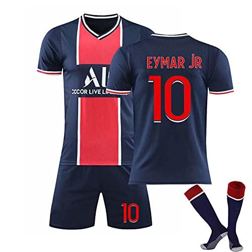 fun Maglia da Uomo, Paris Saint Germain 2021 Second Away Jersey, Mbappé 7# / Neymar 10# Magliette da Calcio Maglia da Calcio per Bambini
